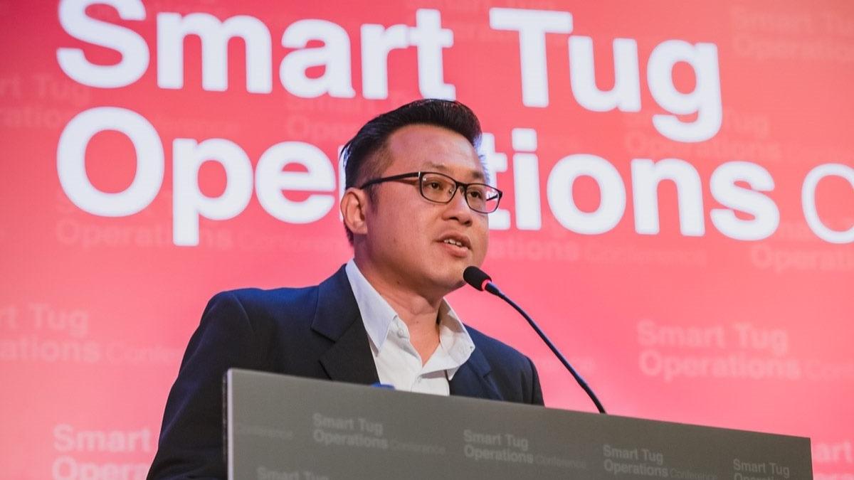 PSA Marine head of fleet management Bernard Wong explained Singapore's IntelliTug project
