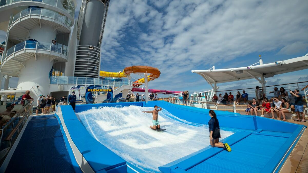New features, like a waterpark, will attract new guests to the cruise ship