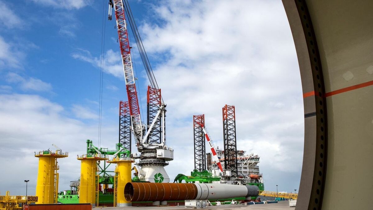 Foundation installation starts at Belgium's largest offshore windfarm