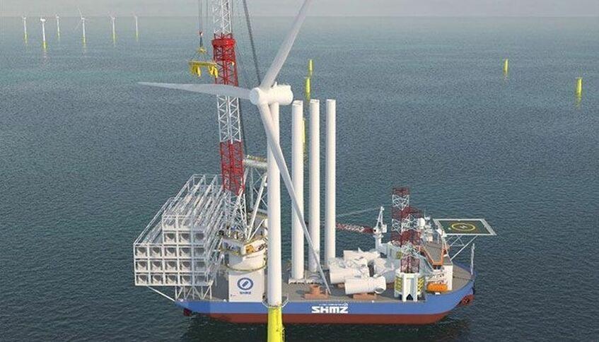 Shimizu's wind turbine installation vessel will be delivered in 2022