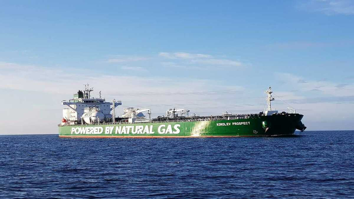 Sovcomflot's Korolev Prospect is the first tanker to travel the Northern Sea Route using only LNG
