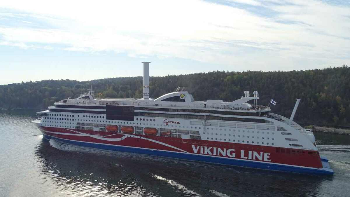 Viking Grace in Stockholm with wireless connectivity for passengers