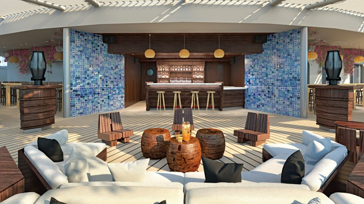Roman and Williams designed the dock bar using a lifestyle-boutique design approach