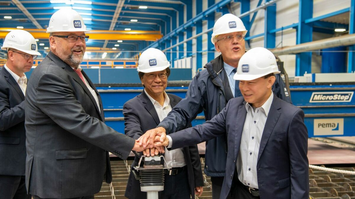 The start of steel cutting of Dream Cruises second Global-class ship