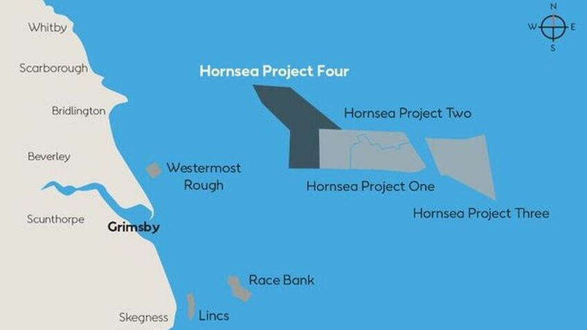Hornsea Project 3 is one of a number of related projects in the North Sea