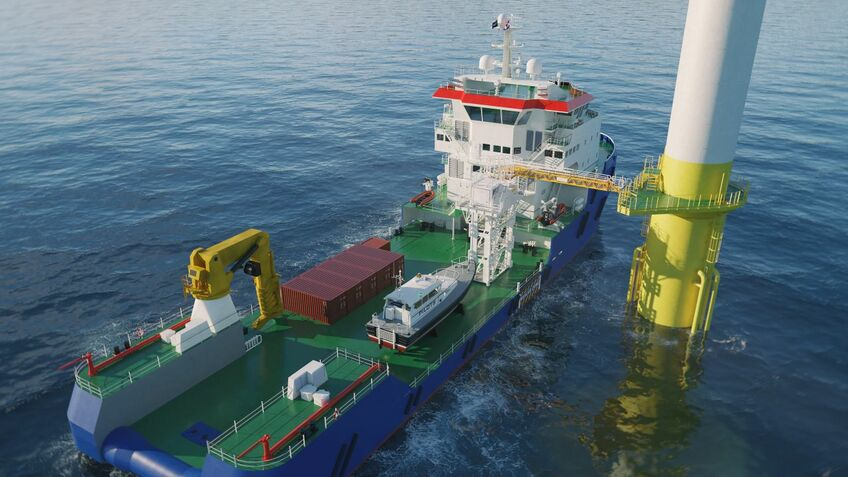 Albwardy Damen has started construction of a DMB 8020 Multibuster vessel with DP2