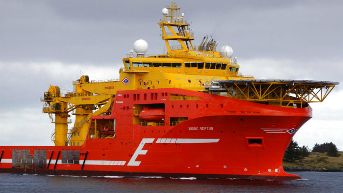 Viking Neptun is Eidesvik's largest vessel and will be one of six battery-hybrid OSVs in its fleet
