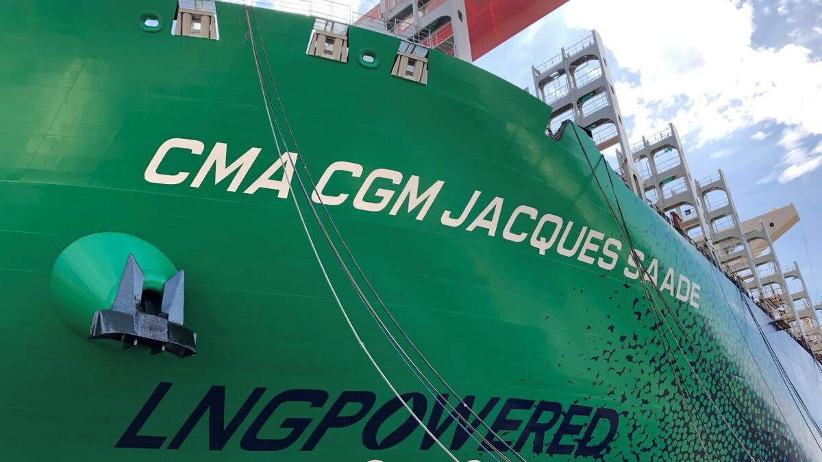 CMA CGM launches largest LNG-powered box ship