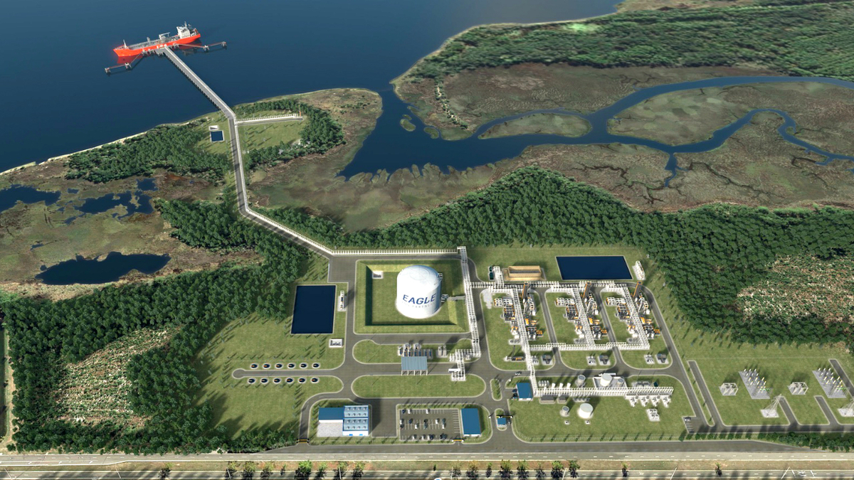 Eagle LNG's Jacksonville LNG export terminal will add another potential 1.0 mta of LNG to US exports