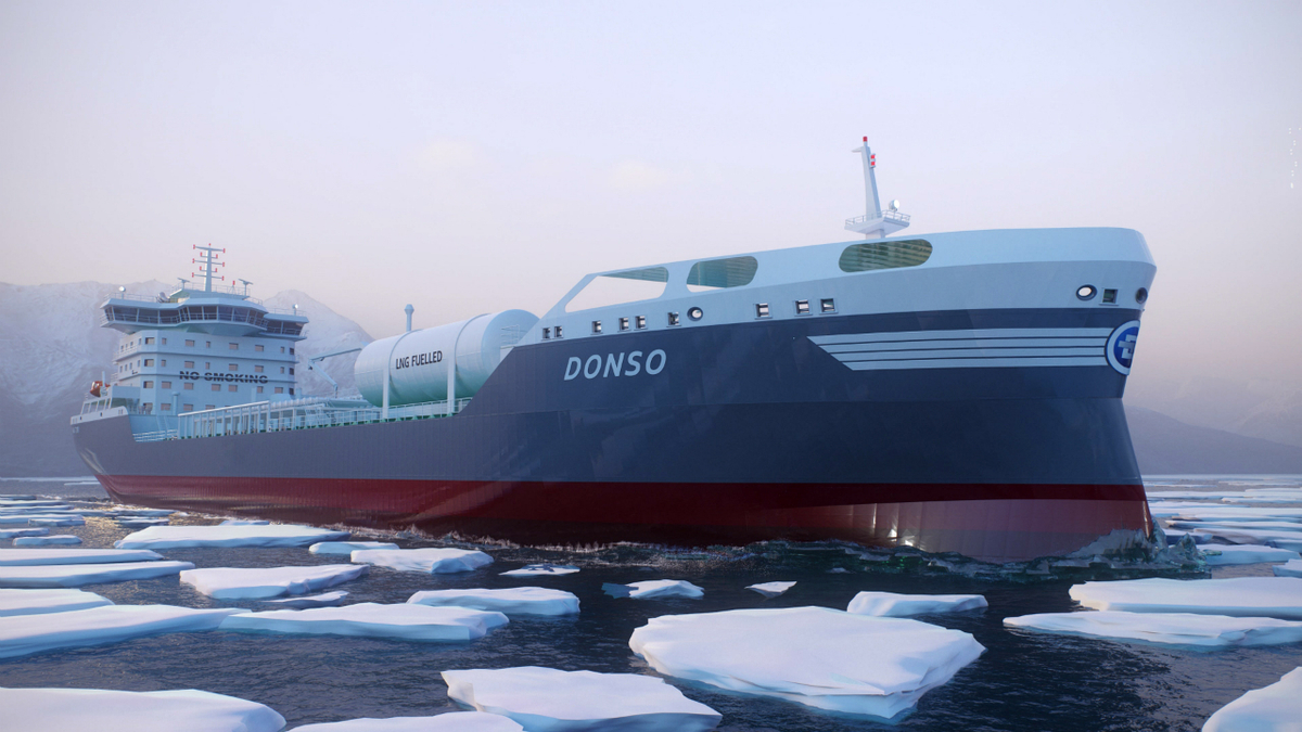 The dual-fuel products/chemical tankers will have an ice class notation (image: FKAB)