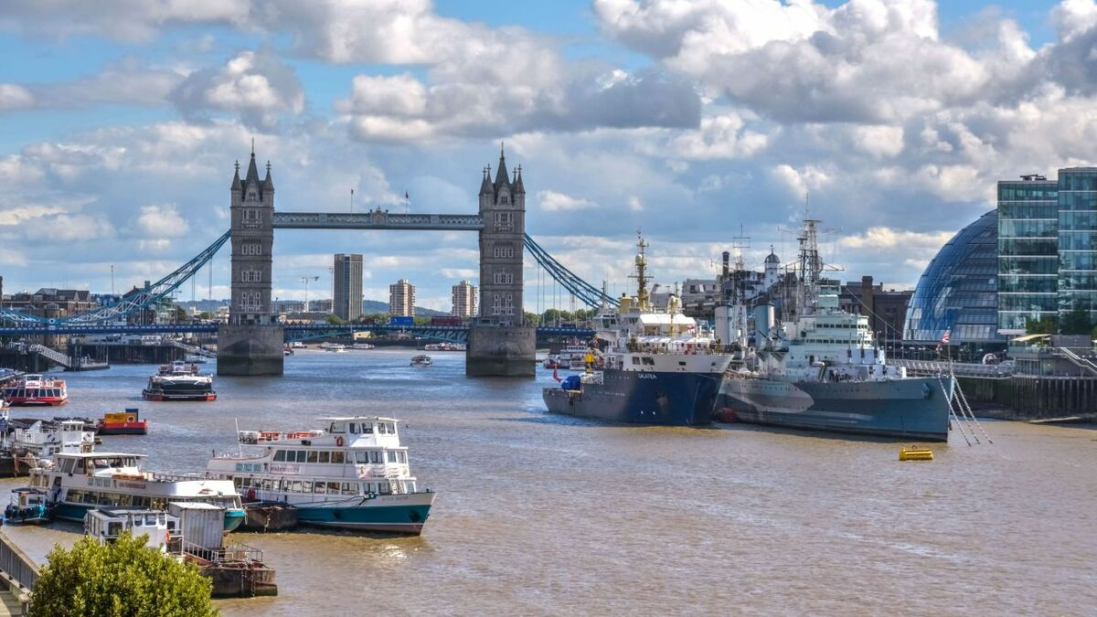 Port of London has legacy jetties and moorings for various ships and workboats