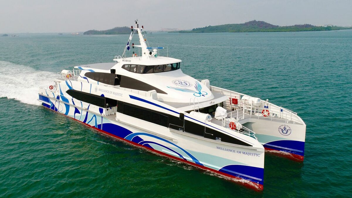 Majestic Fast Ferry's newbuild has a high service speed at a low installed engine power