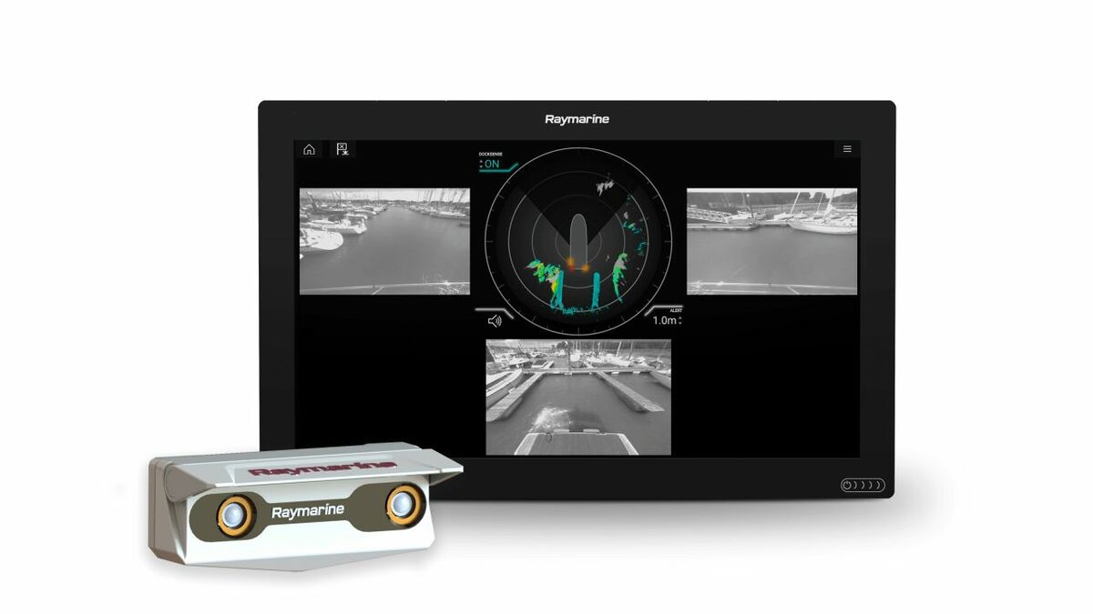 Raymarine DockSense Alert uses intelligent object recognition and motion sensors to assist dockings
