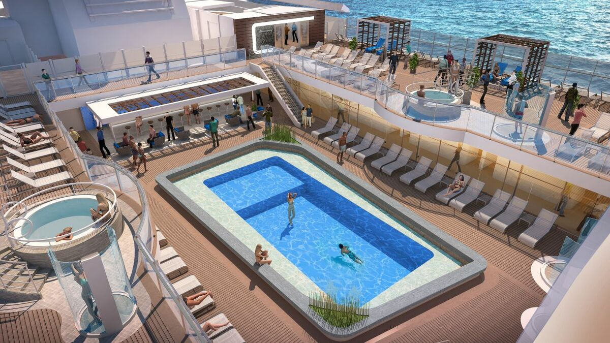 Princess Cruises is creating a mixed-use space around the pool (credit: Princess Cruises)