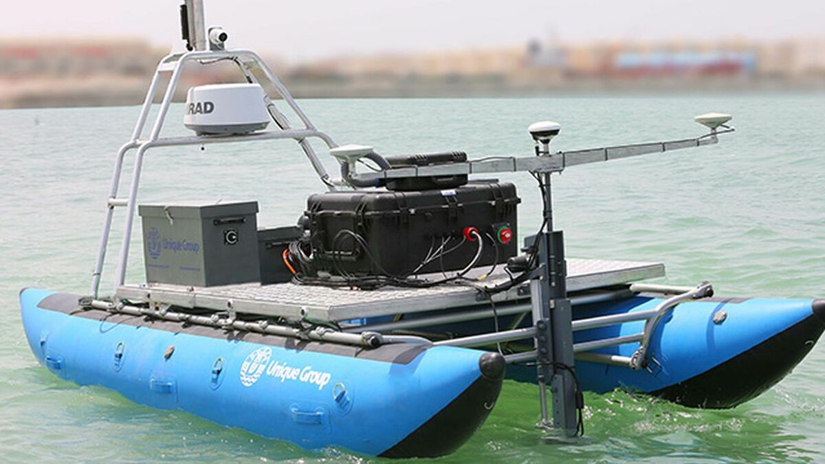 Unique developed Uni-Cat with controls and sensors for UAV surveys in the UAE