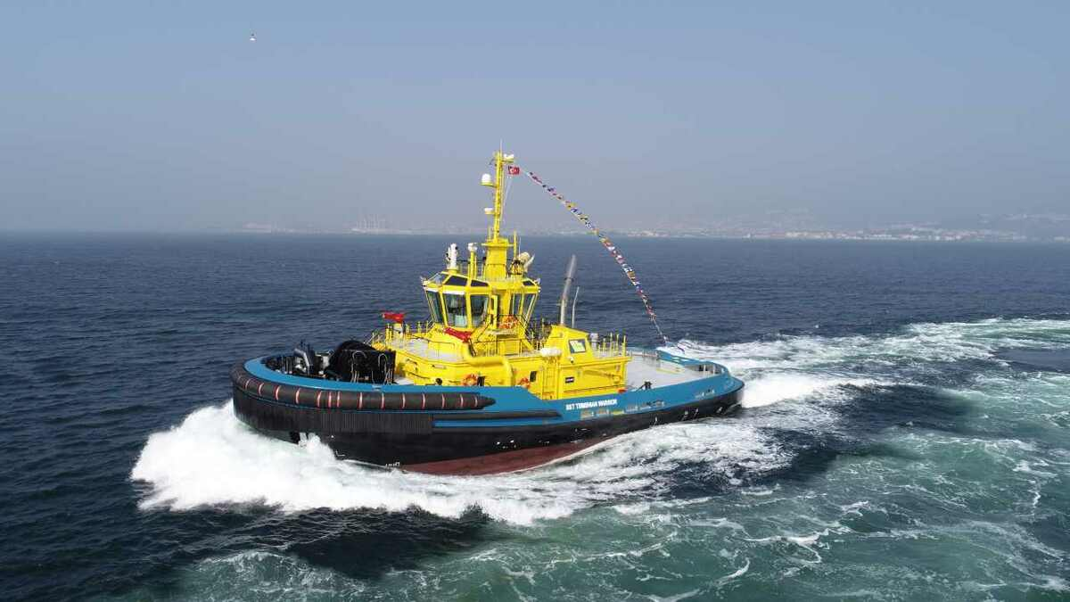 Tsimshian Warrior tug was built for SAAM's support operations in Canada by Uzmar