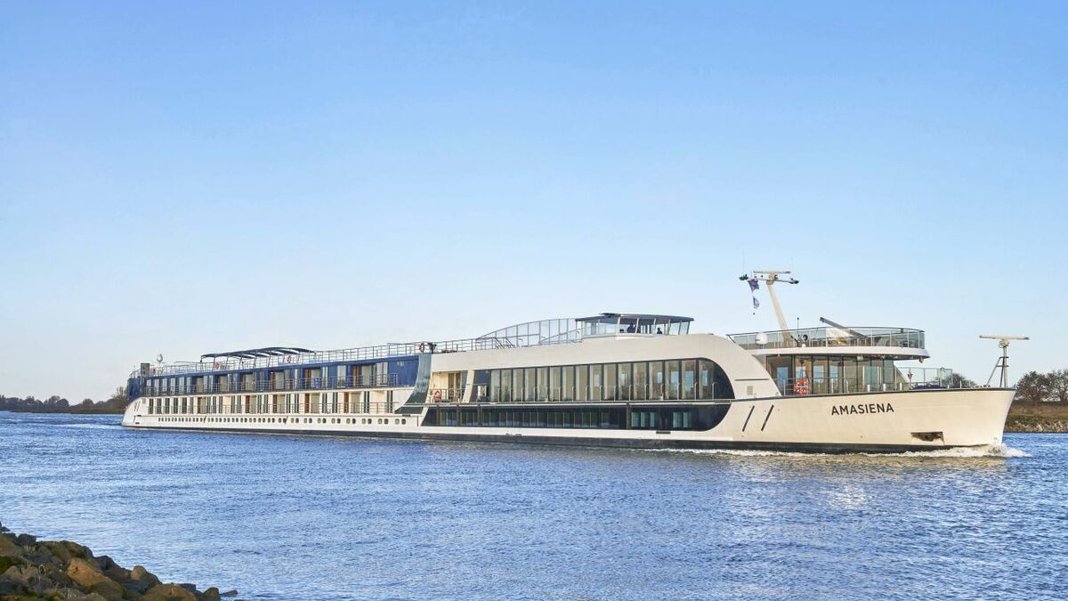 There are currently 42 river cruise vessels on order (pictured: AmaWaterways Amasiena, on order)