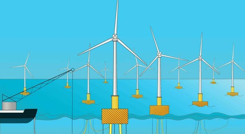 Floating windfarms are required to develop California's offshore wind potential