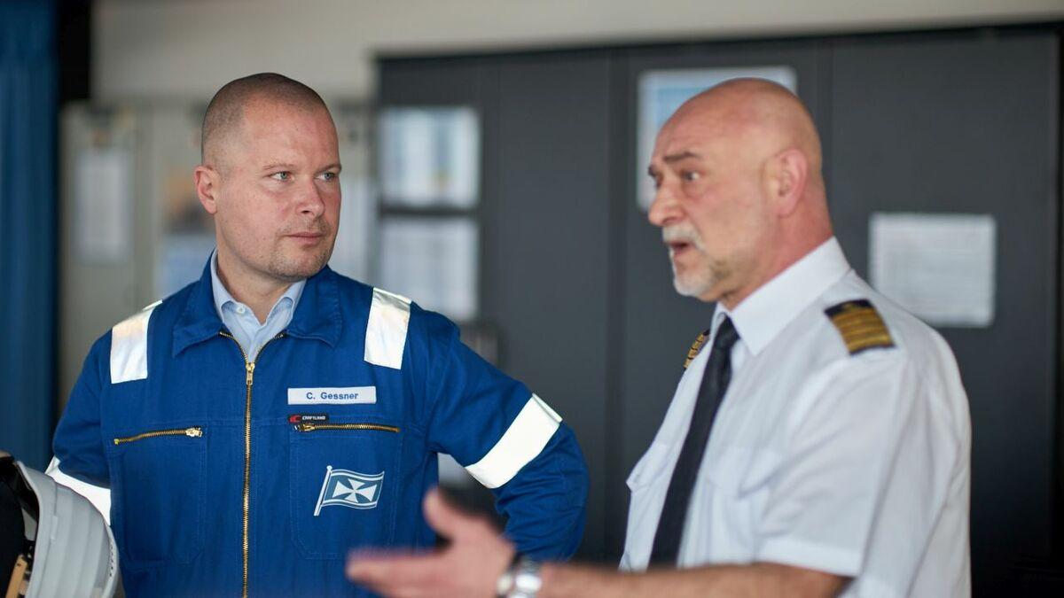 (l-r) Chrisoph Gessner with Capt Artur Emanuel Lukanowski (credit: Ortwin Muehr)