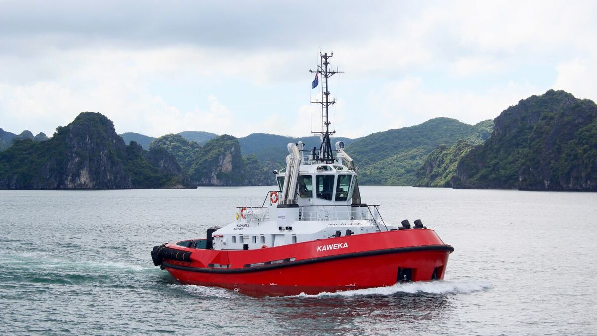 Damen has built ATD Tug 2412 Kaweka for Port Napier, New Zealand