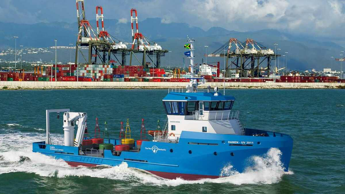 Damen vessels, such as this one for the Port Authority of Jamaica, have up to 15,000 sensors