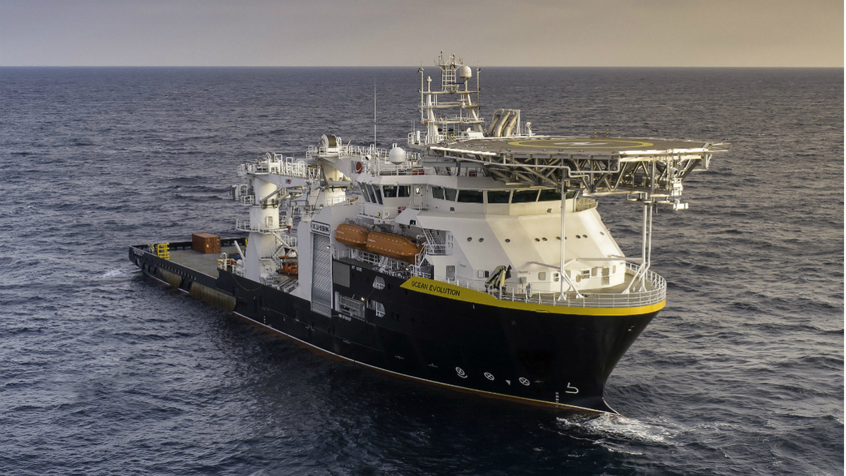 Built to a Marin Teknikk design, Ocean Evolution is Oceaneering's newest specialised vessel