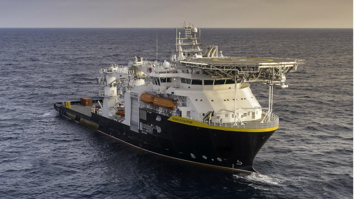 Built to a Marin Teknikk design, Ocean Evolution is Oceaneering's newest specialised vessel