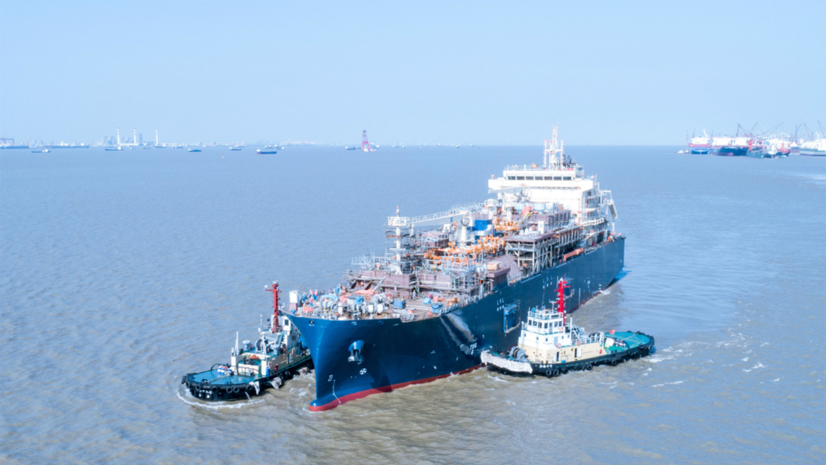 Europe's largest LNG bunker vessel launched in China
