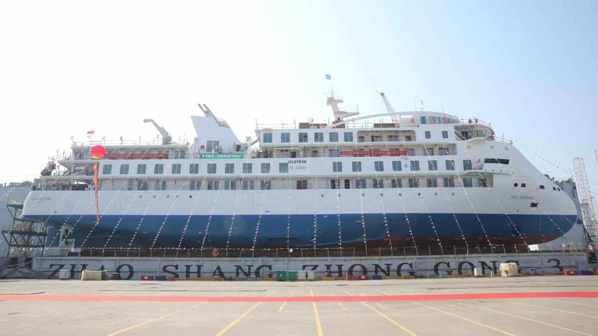 "SunStone Ships is ""very pleased"" with its first China-built cruise ship Greg Mortimer"