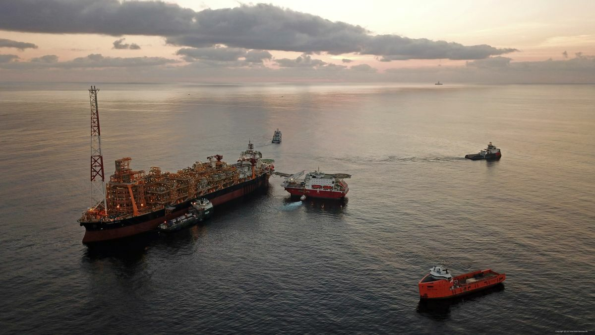 Four ALP Maritime Services AHTS vessels were used for station keeping the Kaombo-Norte FPSO
