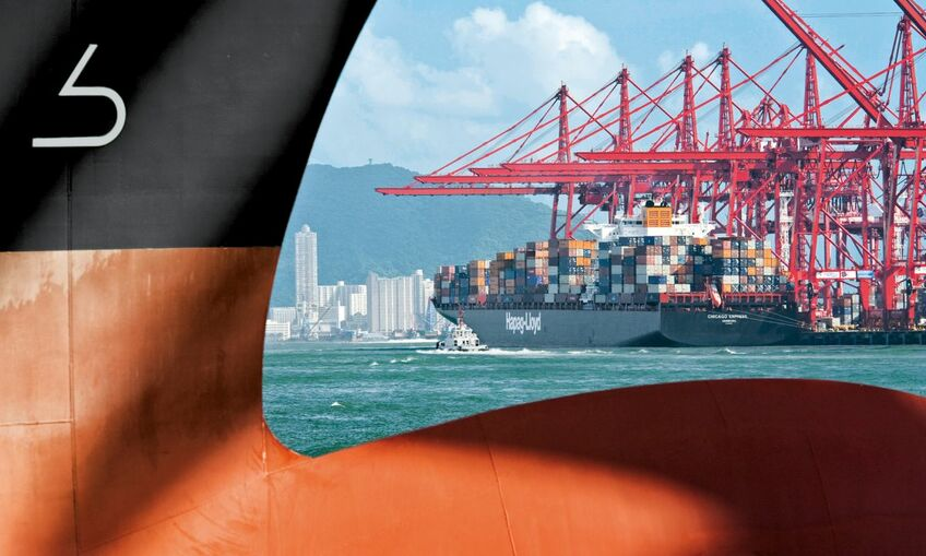 Trim data can be used to evaluate retrofits of bulbous bows (image: Hapag-Lloyd)