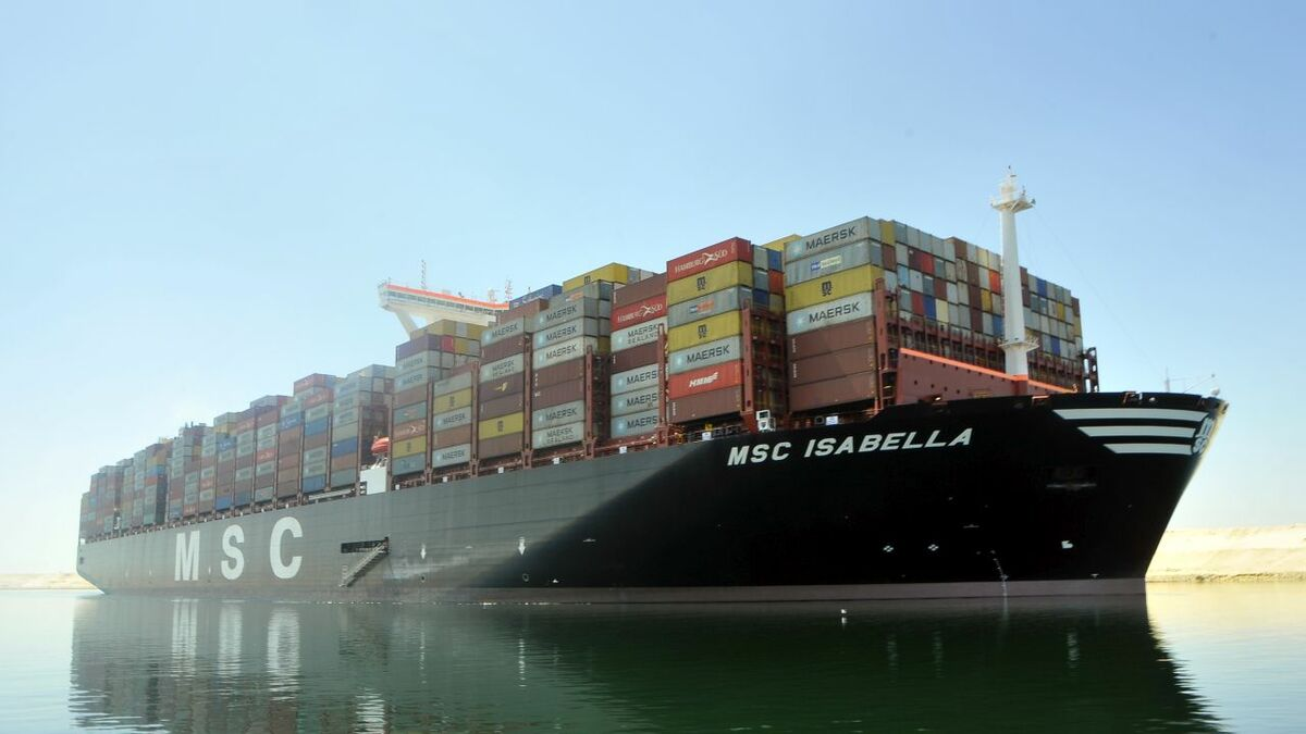 23,656-TEU MSC Isabella was built at DSME in South Korea