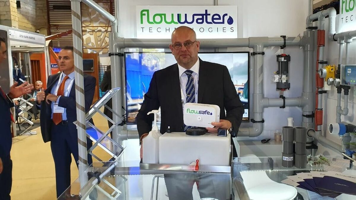 Flow Water Technologies' FlowSafe fresh water unit with MD Mark Hadfield
