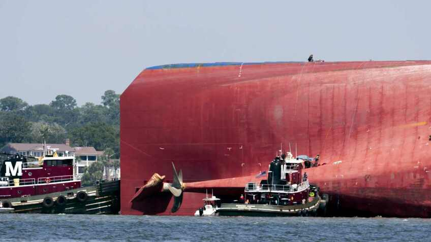 Capsized car carrier Golden Ray to be dismantled in situ