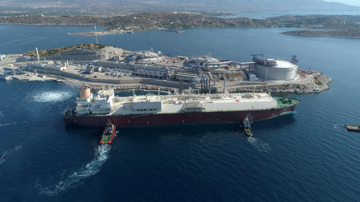 Al Gharrafa, one of the four Q-Flex vessels in the deal, called at Greece's Revithoussa LNG Terminal