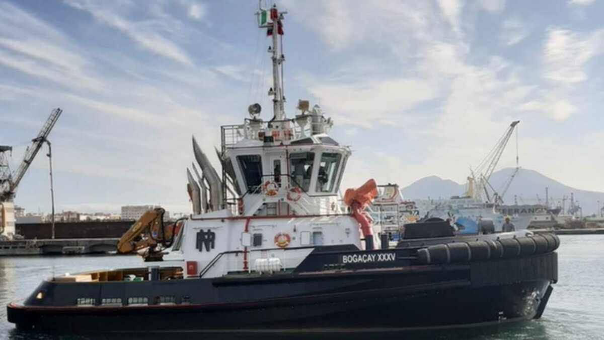 Sanmar supplied a Bogacay tug to Rimorchiatori Napoletani for Italian harbour operations