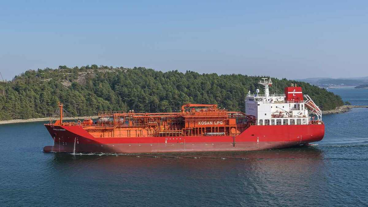 Lauritzen Kosan LPG carriers, such as Stella Kosan will have Marlink ITlink on board