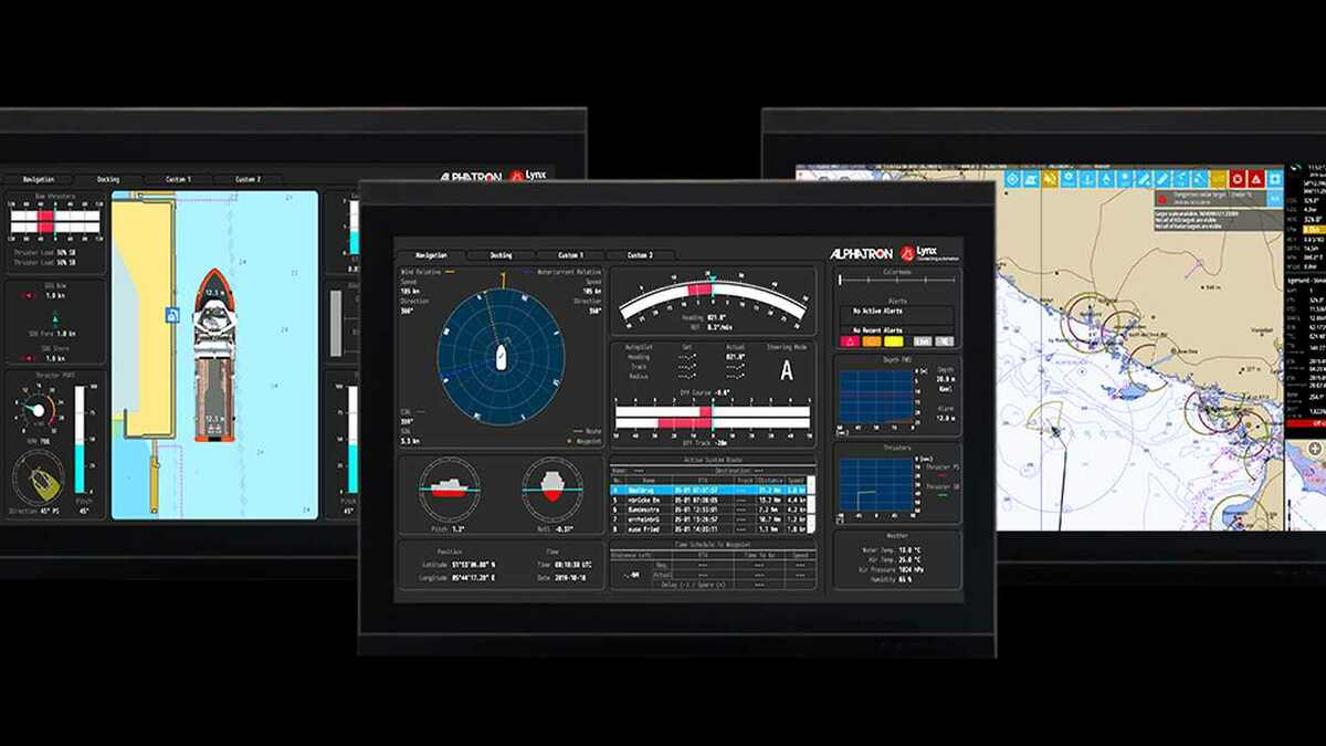 Alphatron Alpha-MINDS displays advanced information for vessel docking and dredging operations