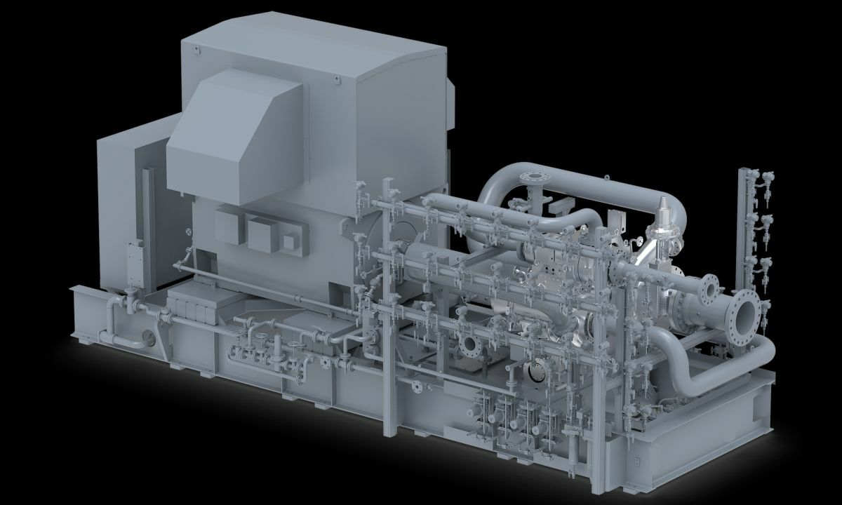 Boil-off gas compressor keeps cool under pressure