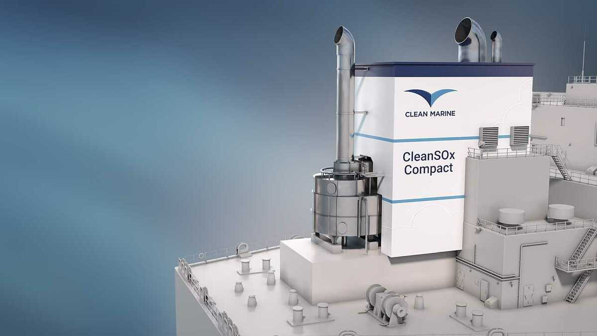 Clean Marine recently launched a new compact scrubber system
