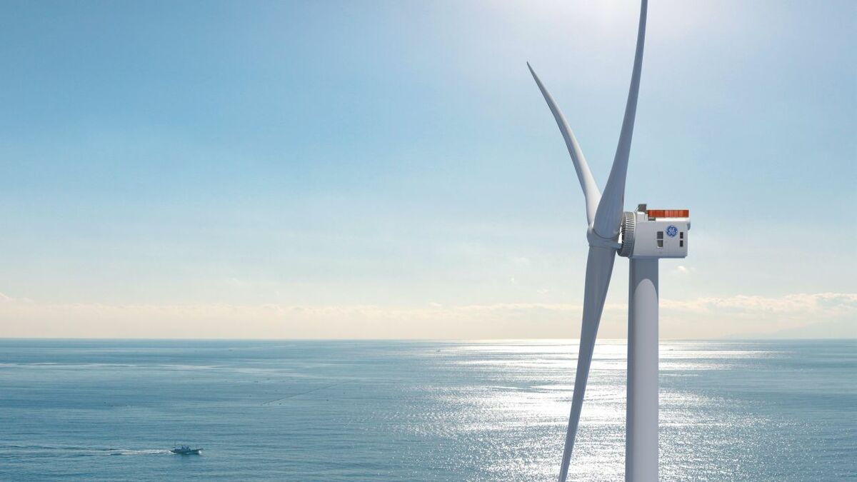 GE Renewable Energy's Haliade-X offshore wind turbine is being built in France