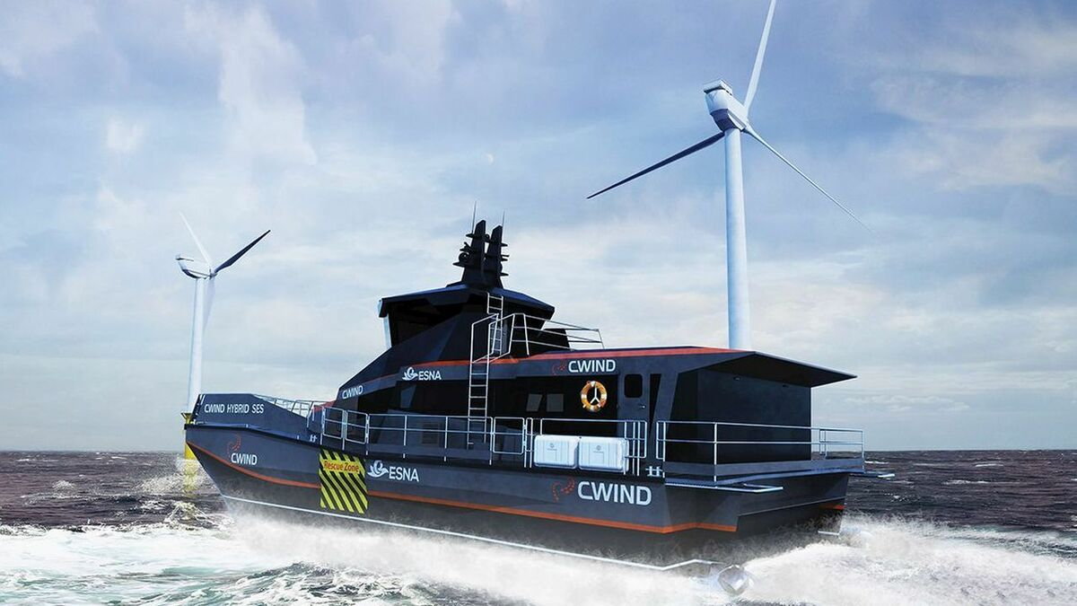 CWind's new vessel combines the advantages of the SES hullform and hybrid propulsion