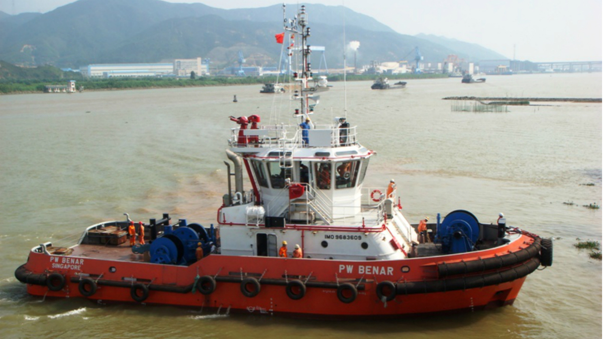 One of 20 vessels in Pacific Workboats' fleet is the 4,000-bhp PW Benar