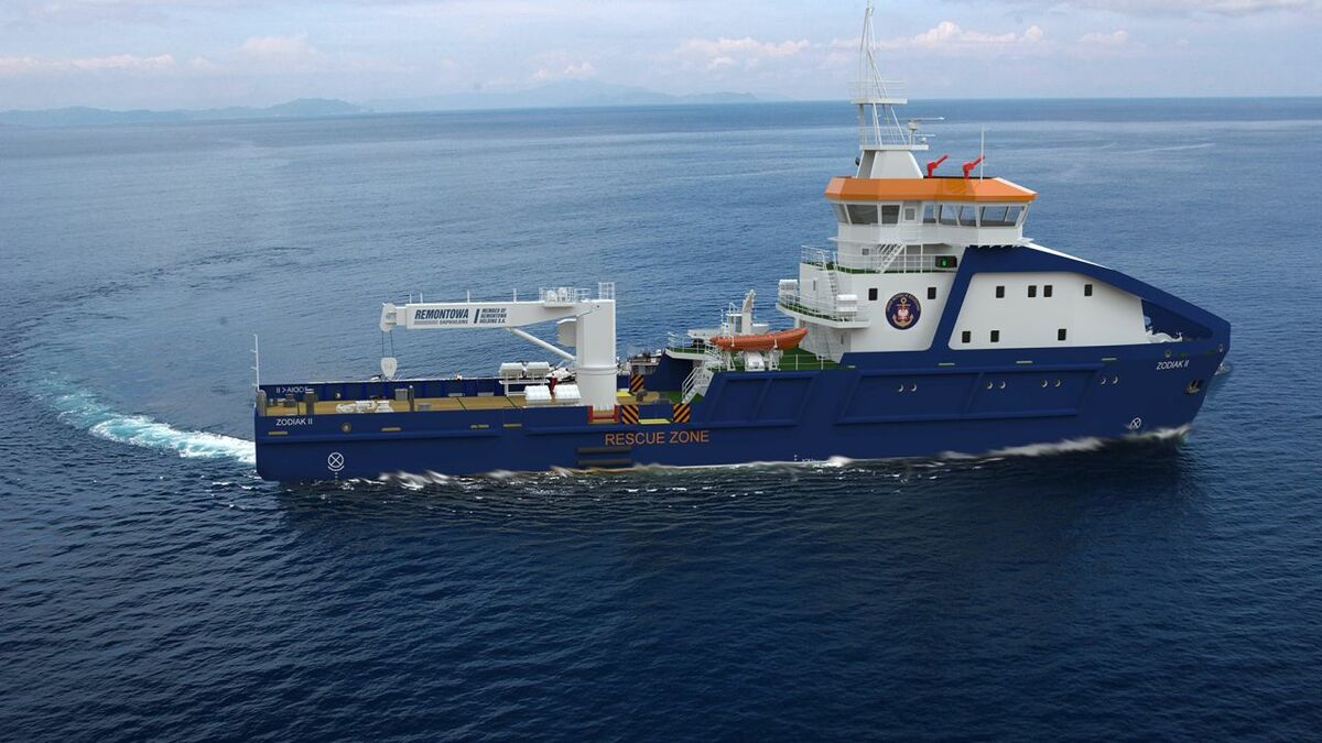 Remontowa is building two multipurpose towage and offshore vessels for Polish marine offices