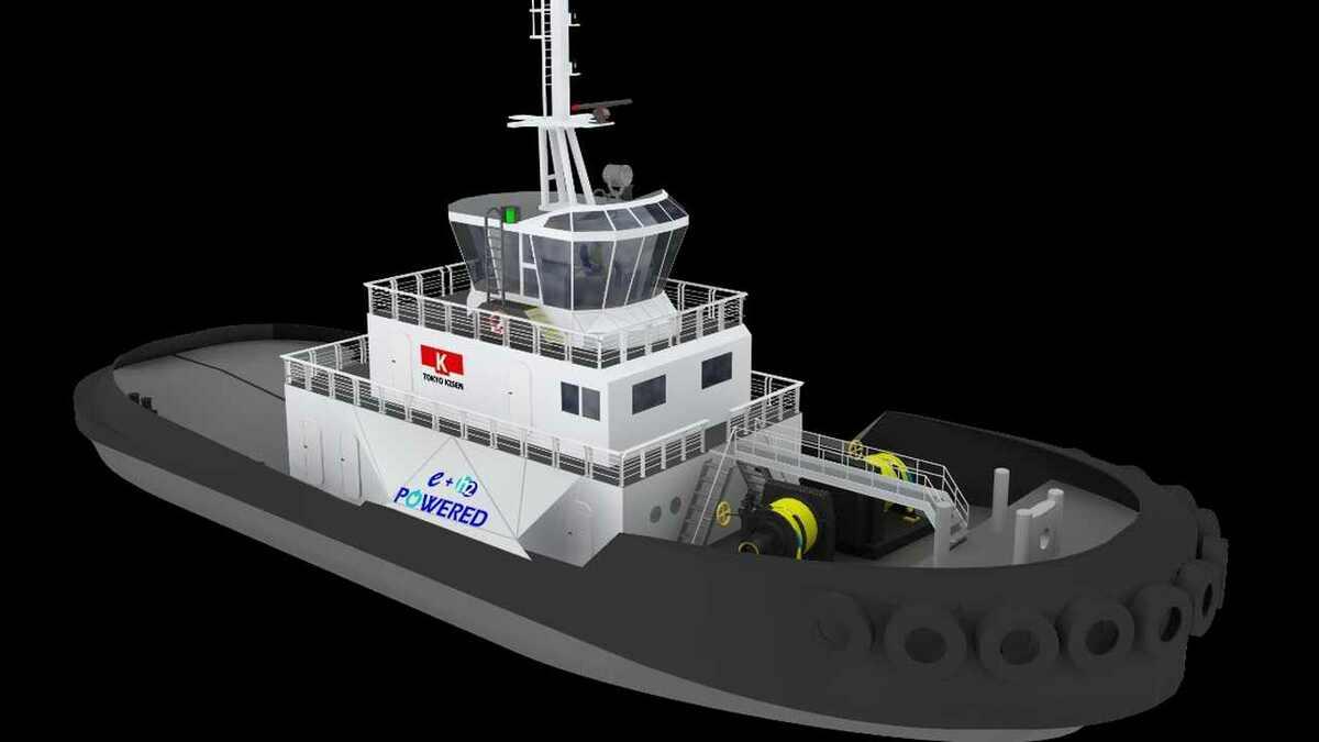 Tokyo Kisen-designed electric tug e5 Tug will have hydrogen fuel cells