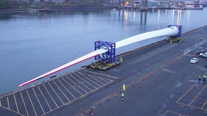 The blade for the Haliade-X is 107 m in length