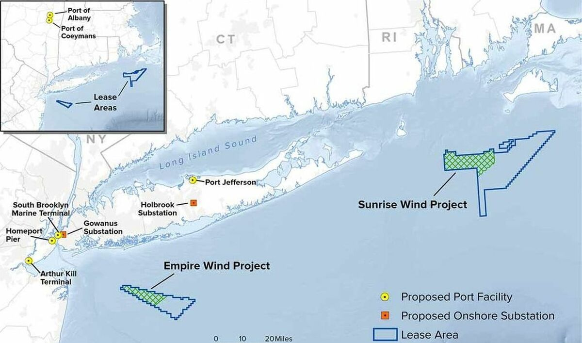 Sunrise Wind and Empire Wind were selected in large-scale offshore wind solicitation