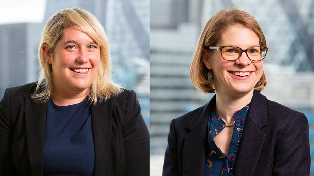 Lucy Espley (L) and Carrie Radford (Ince): A pleasing result for war risk underwriters