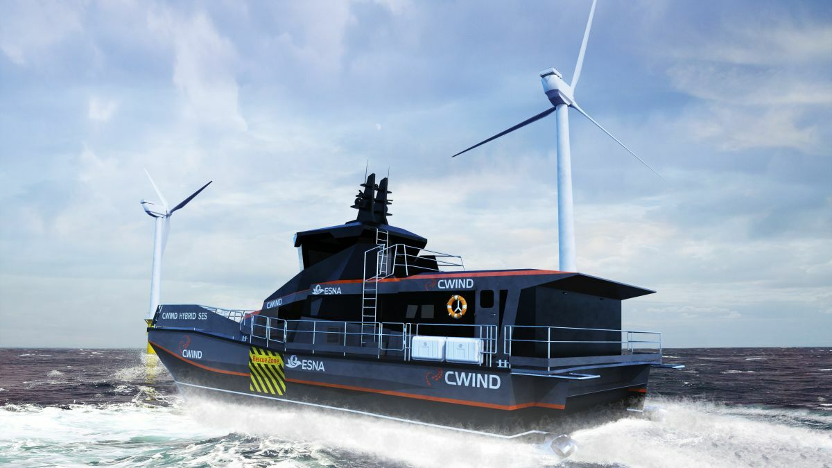 CWind's CTV aims to decrease fuel burn and CO2 emissions via battery power and SES technology