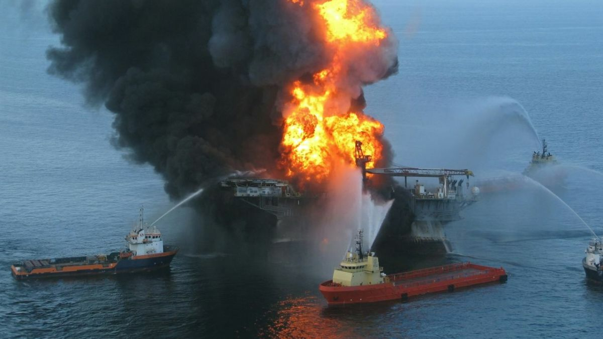 Platform fires such as that on Deepwater Horizon (pictured), continue to pose a threat